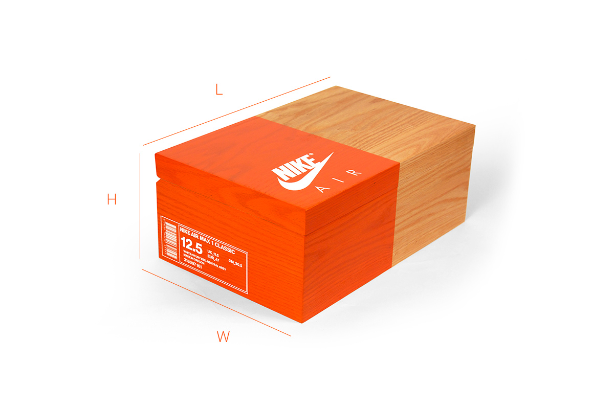 photo of ashoe box showing how storage works
