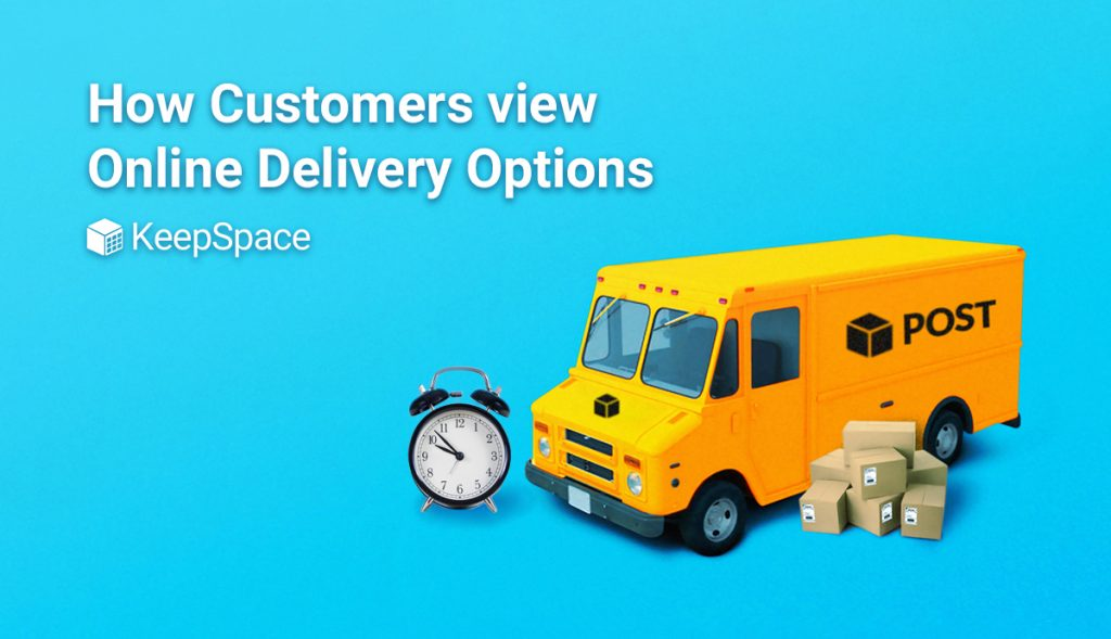 image of post van and blog title of how customers view delivery options