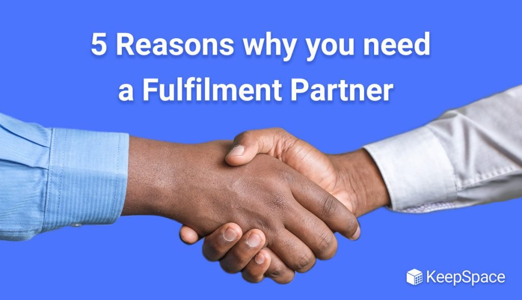 image of two people shaking hands with the blog title 5 Reasons why you need a Fulfilment Partner