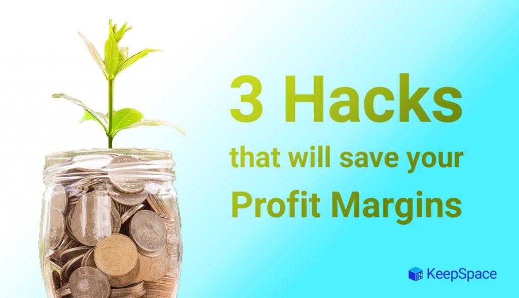 image of money jar blog title 3 hacks that will save your profit margin